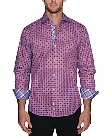 Men's Geo Print Button Down Shirt