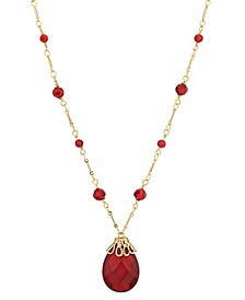 14K Gold Dipped Large Pendant Necklace
