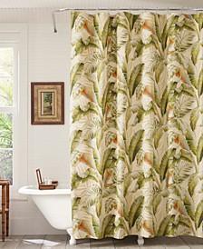 Palmiers 100% Cotton Long Shower Curtain