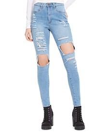 High-Rise Destructed Jeans