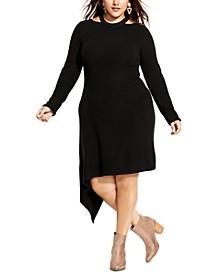 Trendy Plus Size Cut-Out Dress