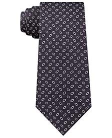 Men's Steel Plate Slim Geo Silk Tie