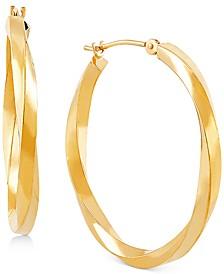 Medium Twist Hoop Earrings in 10k Gold