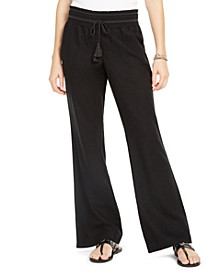 Juniors' Smocked-Waist Soft Pants