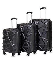 Gem 3-Pc. Hardside Luggage Set