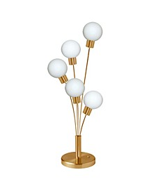 5 Light Incandescent Table Lamp