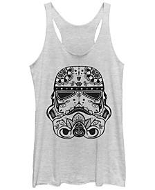Star Wars Ornate Storm Trooper Tri-Blend Racer Back Tank