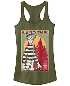 Where's Waldo Find Yourself Poster Ideal Racer Back Tank