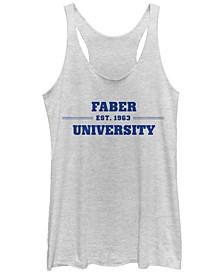 Animal House Faber University Logo 1963 Tri-Blend Racer Back Tank
