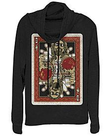 Fifth Sun Big Lebowski Abide Card in the Deck Cowl Neck Sweater