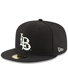 Long Beach State 49ers Core Black White 59FIFTY Fitted Cap