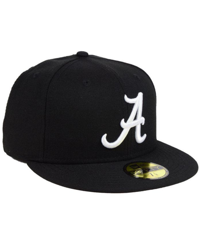 New Era Alabama Crimson Tide Core Black White 59FIFTY Fitted Cap & Reviews - Sports Fan Shop By Lids - Men - Macy's