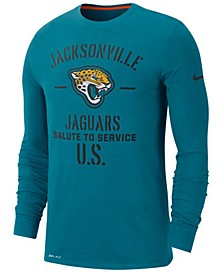 Men's Jacksonville Jaguars Salute To Service Dri-FIT Cotton Long Sleeve T-Shirt