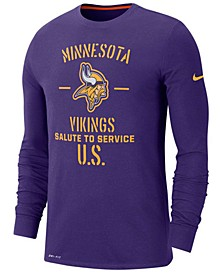 Men's Minnesota Vikings Salute To Service Dri-FIT Cotton Long Sleeve T-Shirt