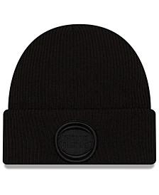 Detroit Pistons Blackout Knit Hat