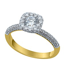 Halo Diamond(1 ct. t.w.)  Engagement Ring in 14K Yellow Gold