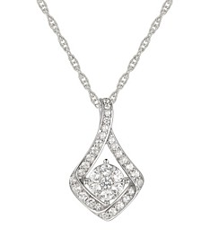 1/4 ct. t.w. Round  Diamond Pendant in Sterling Silver