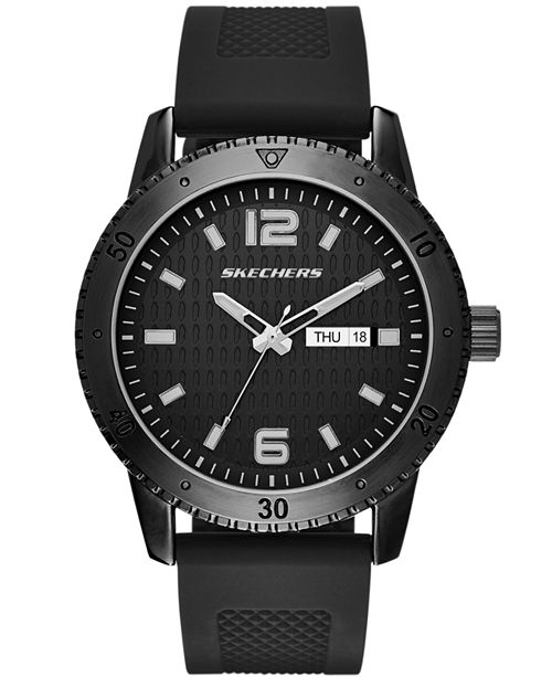 Skechers Men's Silicone Strap Watch 48mm