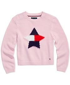 Big Girls Star Sweater with VELCRO® Closure