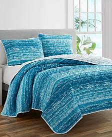 Ocean Waves 3-Piece Queen Quilt Set