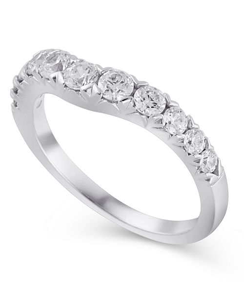 Macy's Certified Diamond (3/4 ct. t.w.) Contour Band in 14K White Gold