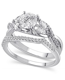 Certified Diamond (1-5/8 ct. t.w.) Bridal Set in 14K White Gold