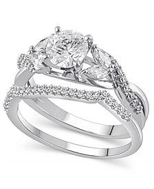 Certified Diamond (1-5/8 ct. t.w.) Bridal Set in 14K White Gold