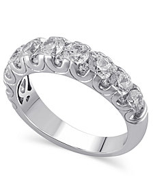 Certified Diamond (2 ct. t.w.) Ring in 14k White Gold