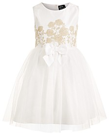 Little Girls Embroidered-Bodice Dress