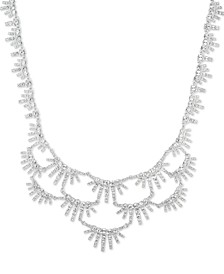 """Crystal Statement Necklace, 16"""" + 3"""" extender"""