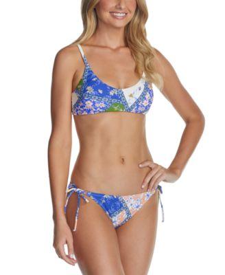 Juniors' Las Brisas Printed Side-Tie Bikini Bottoms