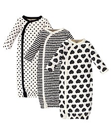 Baby Girl Organic Kimono Gowns, 3 Pack