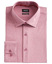 Men's Slim-Fit Performance Stretch Rose Chambray Dress Shirt