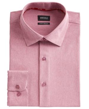 Men's Slim-Fit Performance Stretch Rose Chambray Dress Shirt