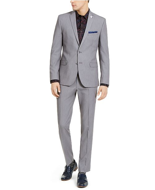 Nick Graham Men's Slim-Fit Stretch Solid Suit