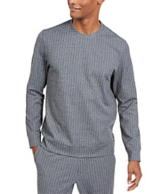 Men's Classic-Fit Stretch Stripe Knit Sweatshirt, Created for Macy's