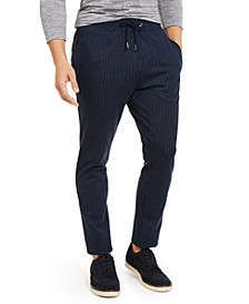 Men's Stretch Stripe Knit Drawstring Pants, Created For Macy's