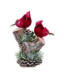 Pinecone Large Red Christmas Cardinal Decor
