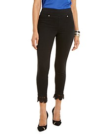 Lace-Hem Jeggings, Created For Macy's
