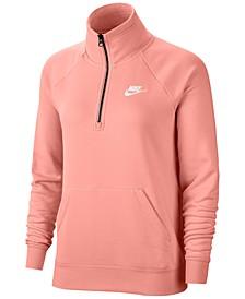 Women's Sportswear Essential Quarter-Zip Fleece Top