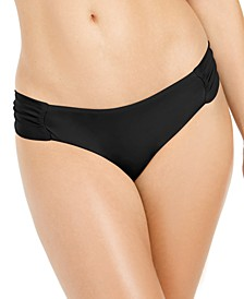 Sunset Solids Side-Shirred Hipster Bikini Bottoms, Created for Macy's