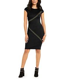 Studded Scuba Dress, Created For Macy's