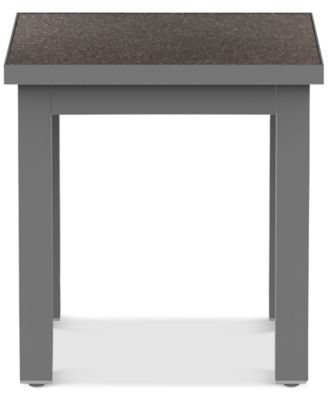 Carleese Outdoor End Table with Cal Sil Top