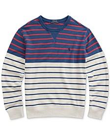 Big Boys Striped Cotton French Terry Sweatshirt