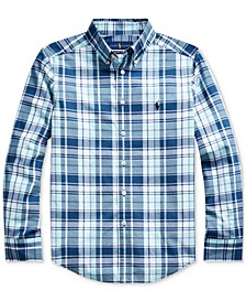 Big Boys Stretch Cotton Poplin Shirt