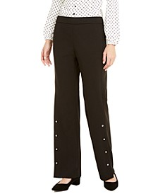 Riveted Wide-Leg Pants, Created For Macy's