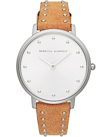 Women's Major Honey Studded Leather Strap Watch 35mm