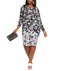 Plus Size Printed Jersey Dress
