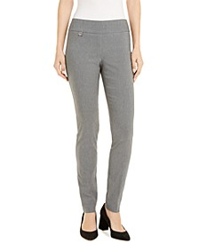 Petite Curvy Tummy-Control Pull-On Skinny Pants, Created for Macy's