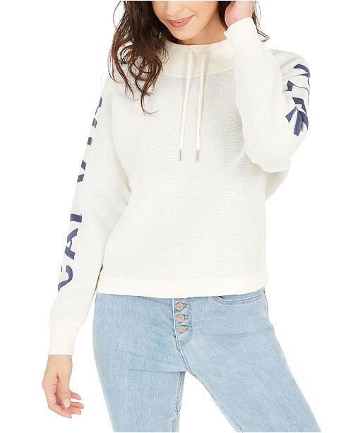 Calvin Klein Jeans Cotton Cowlneck Logo Sweater